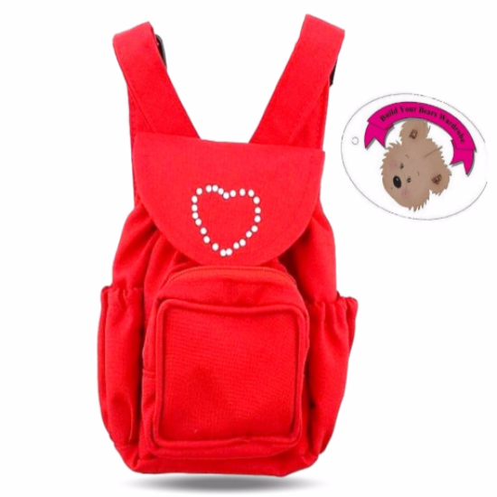 Red Back Pack fits 15in Teddy or Doll