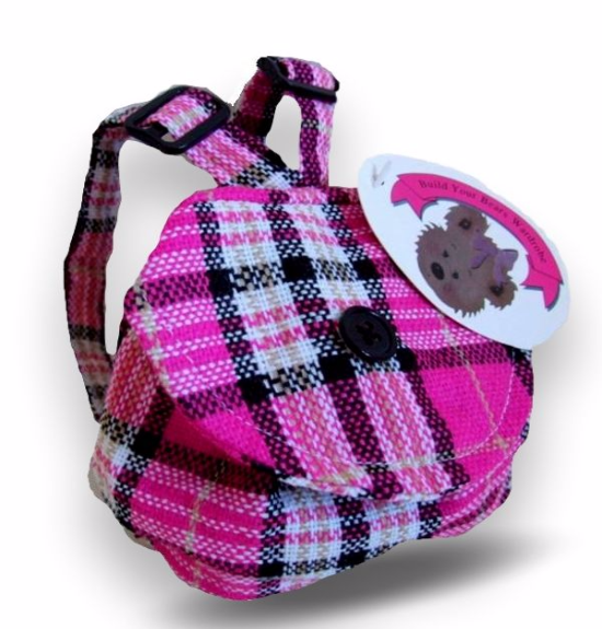 Teddy Bear Candy Check Backpack