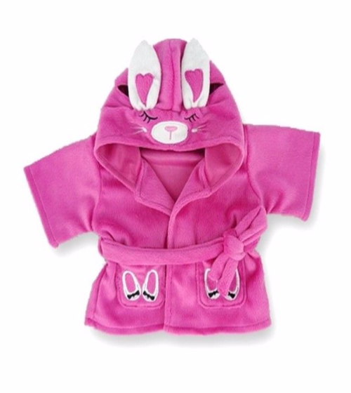 Teddy Bear Clothes Candy Pink Bunny Robe
