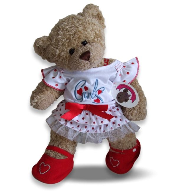 Teddy Bear Clothes 'Girls' Red Polka Dot Outfit