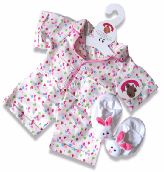 Teddy Bear Clothes Smartie PJ's and Slippers