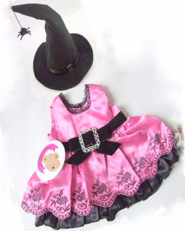 Build a bear fit Halloween Witch Outfit Teddy Bear Clothes - Buckle Dress/Hat