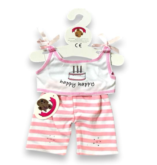 build a bear fit Pink Check Skirt Teddy Bear Outfit