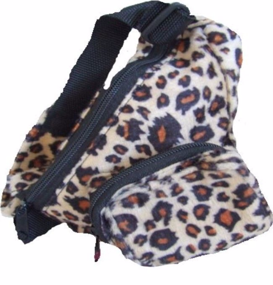 Leopard Print Teddy Bear Backpack Bag