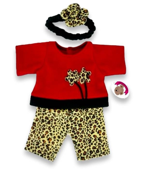 Leopard Red Fleece Outfit
