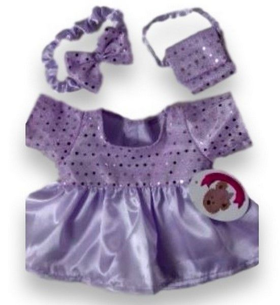 Lilac Sparkle Dress & Head Bow