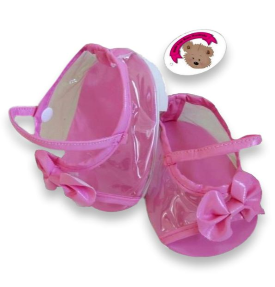 Pink Bow Teddy Bear Shoes