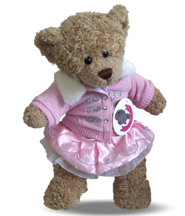 Teddy Bear Outfit Pink Knitted Jacket Outfit