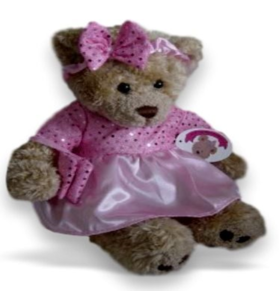 Pink sparkle dress bow & bag