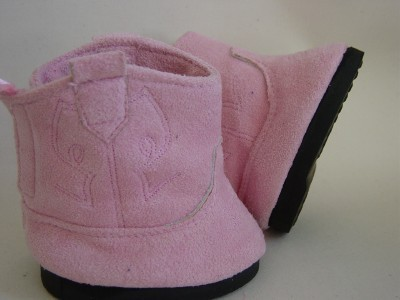 Pink Suede effect Teddy Bear Boots