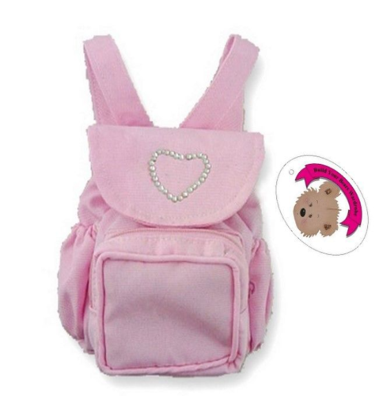 Pink Zip Bag Backpack