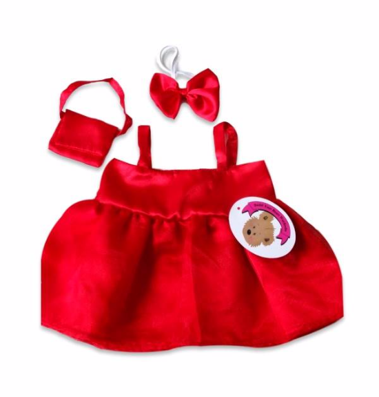 Red Satin Dress Bag & Bow