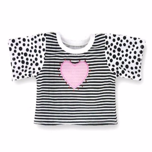 Spots and Stripes Heart Top