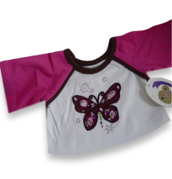 T-Shirt with Butterfly Gems