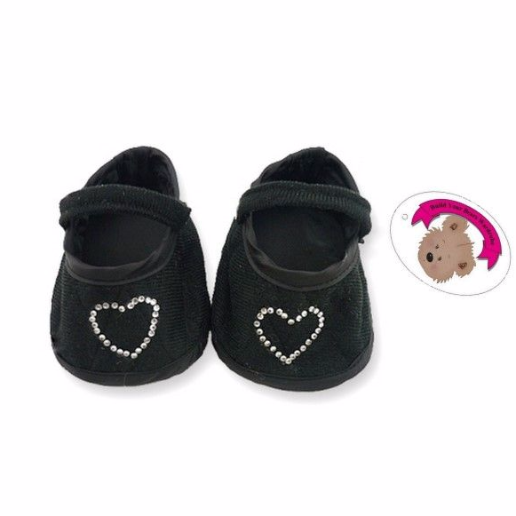 Teddy Bear Black Heart Shoes