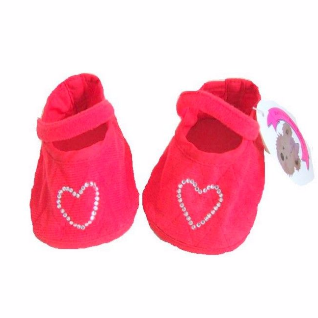 Teddy Bear Red Heart Shoes